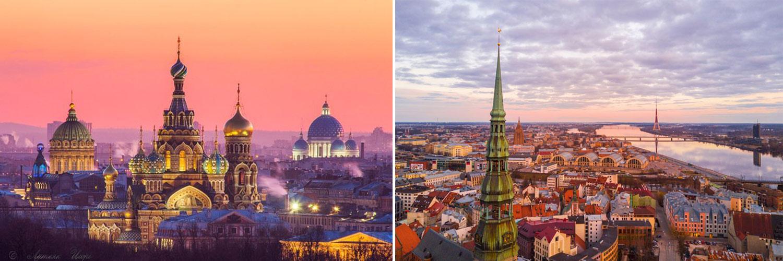 Tour capitali baltiche. Riga, San Pietroburgo