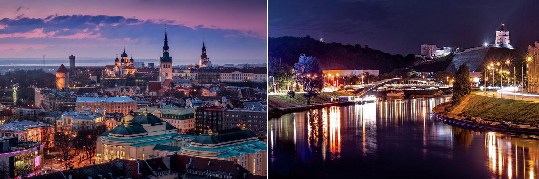 Tour capitali baltiche. Vilnius, Tallinn